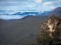 katoomba kiosque lookout brumeux et nuageux