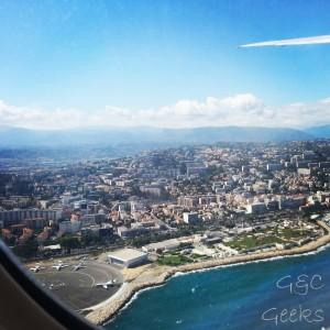 au départ de l'aéroport de Nice ... au revoir et à bientôt !