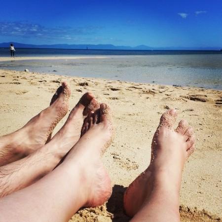 7-pieds dans le sable