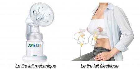 tire lait mécanique et electrique