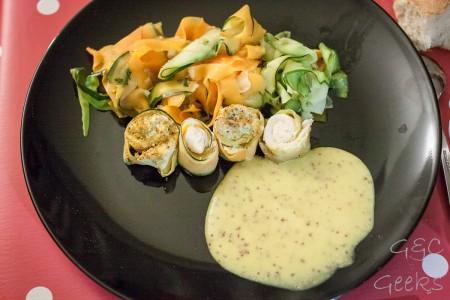 Tagliatelles, poulet et sauce Thermomix