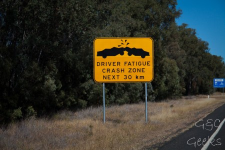 driver fatigue crash zone australia
