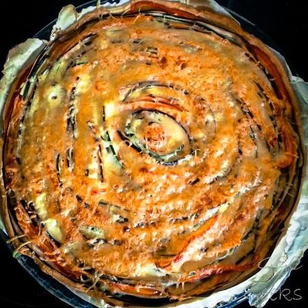 tarte en spirale cuite