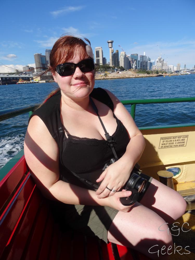 sur le ferry carole