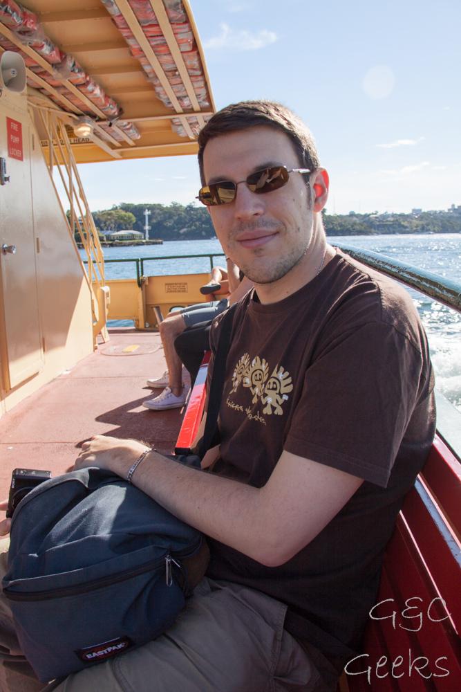 sur le ferry guillaume