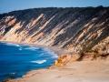 coloured sand cliffs rainbow beach 2